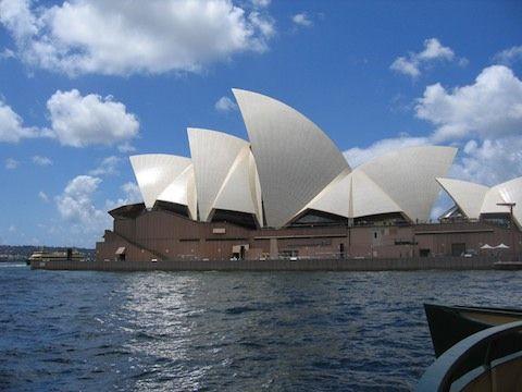 悉尼城市与沙滩